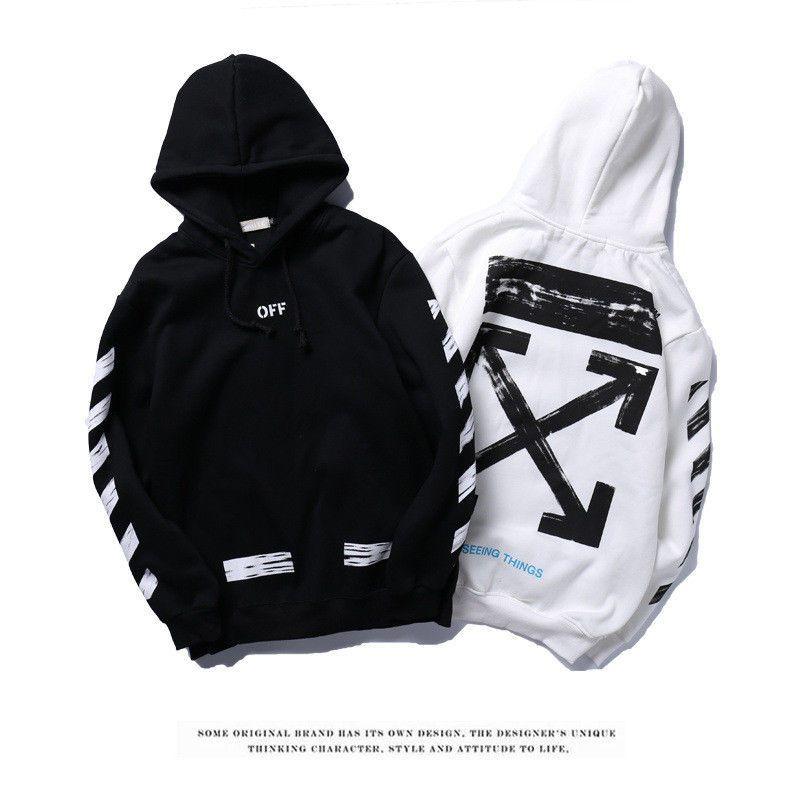 Off White Supreme Hoodie Virgil Abloh Pyrex Vision Street Wear Jumper Sweatshirt Fashion Clothing Sho Off White Hoodie Off White Clothing White Hoodie Women