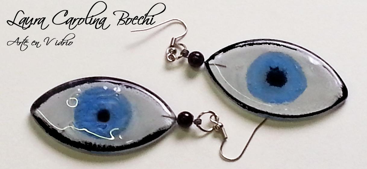 Ojos azules en vidrio