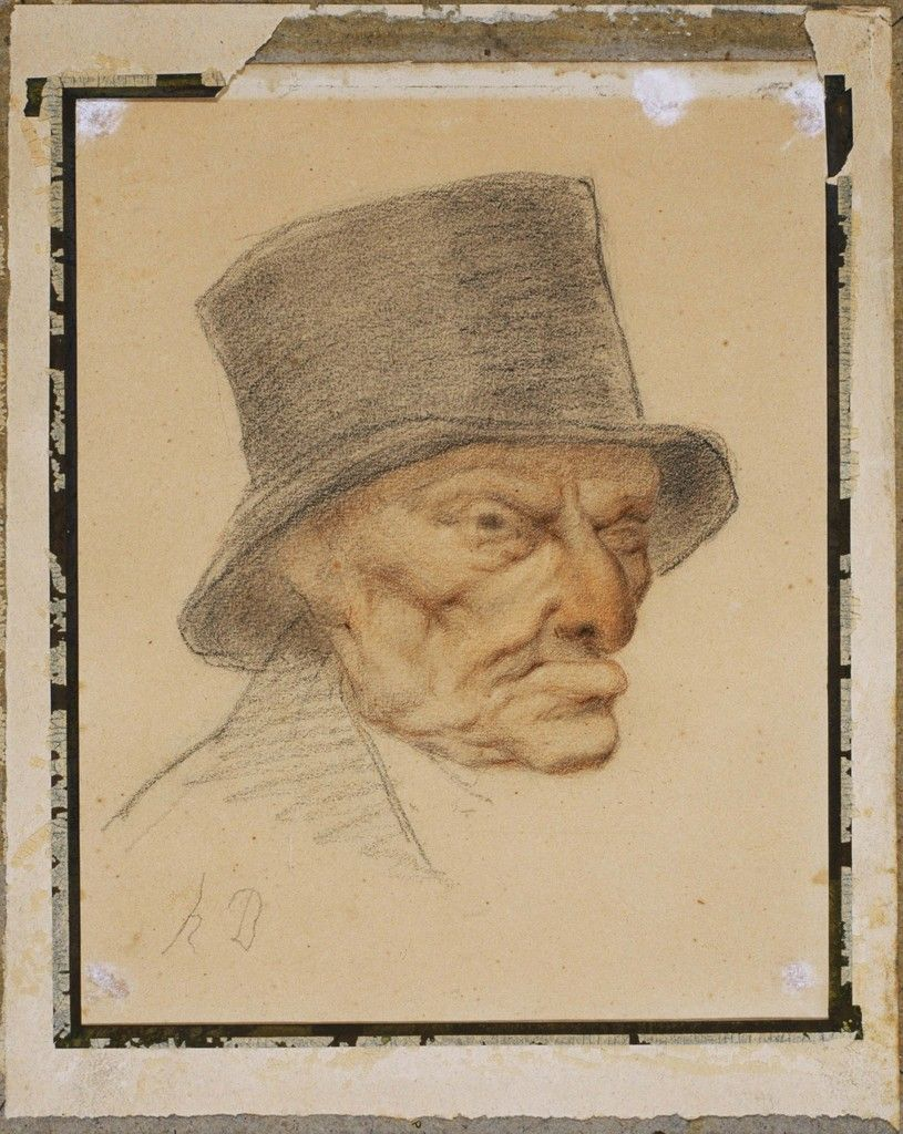 Head of an Old Man | Honoré Daumier, Head of an Old Man