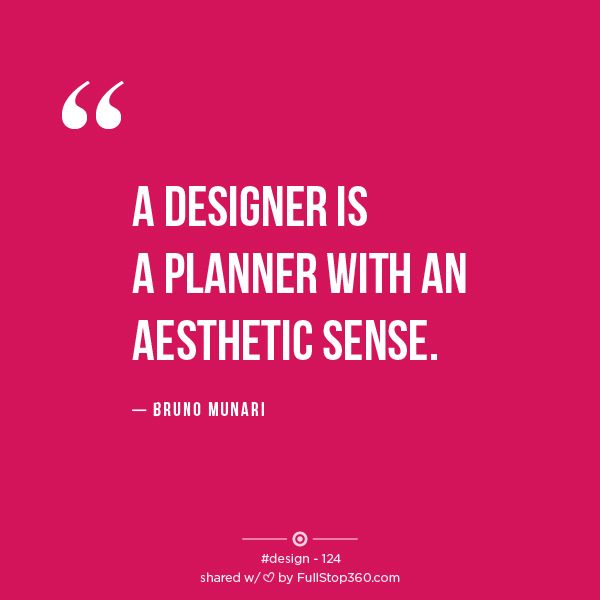 a designer is a planner an aesthetic sense bruno munari