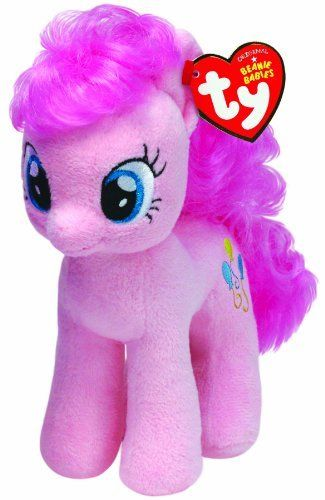 c213e9c541a Ty My Little Pony - Pinkie Pie (008421410002) Official product from Ty s  wildly popular Beanie Babies Collection Look for the familiar heart-shaped  tag that ...