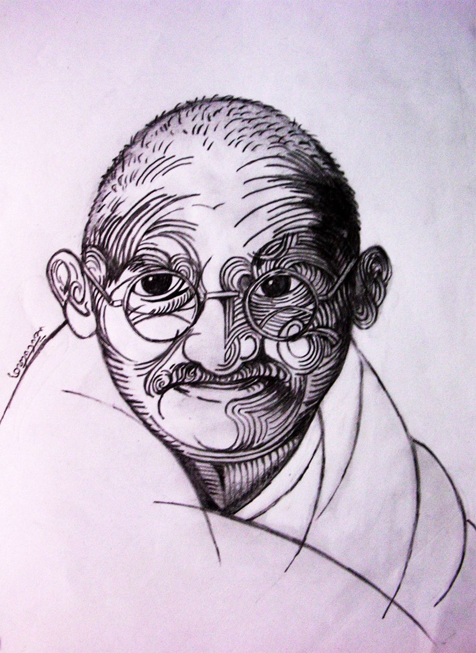 Mahatma gandhi mahatma gandhi pencil drawings drawings in pencil graphite drawings color
