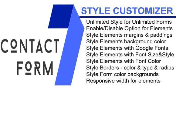 Contact Form 7 Style Customizer S Izobrazheniyami