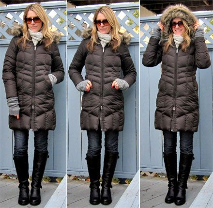 What I'm Wearing: Lands' End Chevron Down Coat | Winter, Moncler ...