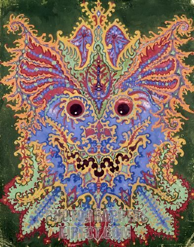 Paisley Cat Coloured Pencil On Paper LOUIS WAIN LOUIS WAIN - Reality with pencil and paper