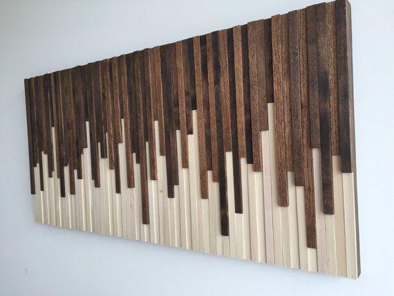 Instalación de pared de pared madera de la pared arte esculturas