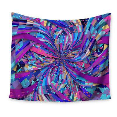 """East Urban Home Flavours Explosion by Danny Ivan Wall Tapestry Size: 60"""" H x 80"""" W"""
