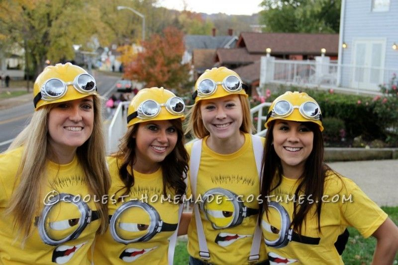 Coolest despicable me minion college girls group costume coolest despicable me minion college girls group costume solutioingenieria Image collections