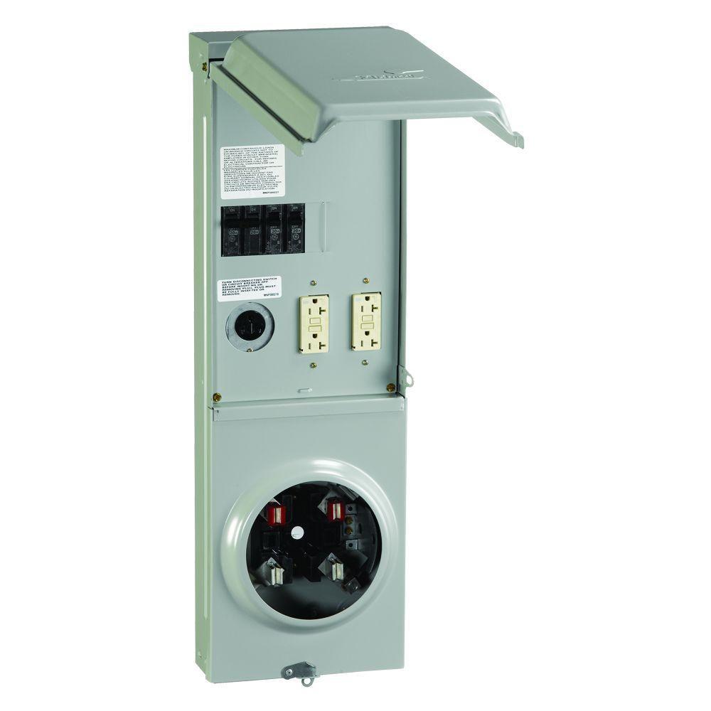 30 Amp 20 Amp GCFI RV Outlet Box 100 Amp 120//240-Volt Ring Type Metered 50 Amp
