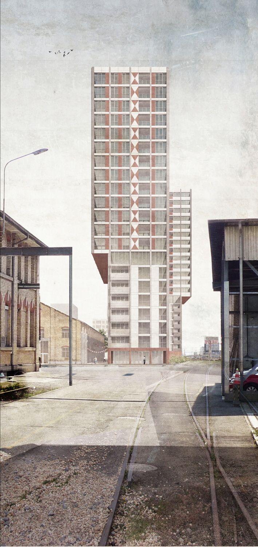 Wohnhochhaus letzi armon semadeni gewinnen in z rich architektur pinterest hochhaus - Architekturvisualisierung berlin ...