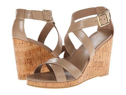 Womens Sandals Cole Haan Jillian Wedge Maple Sugar