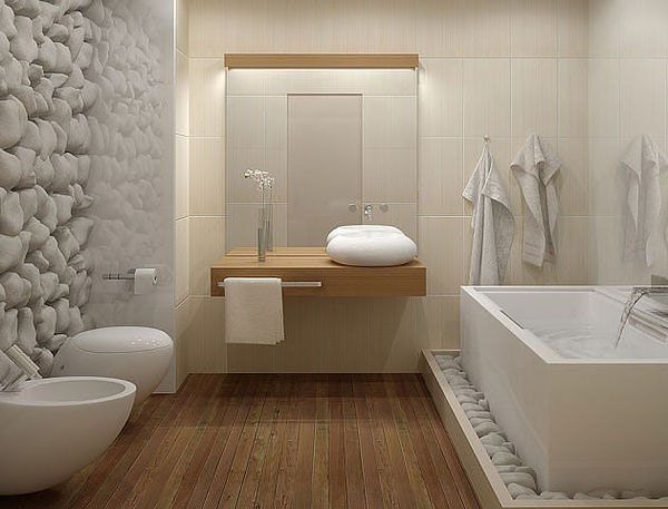 Une salle de bain à la déco nature | Small bathroom, Vanities and ...