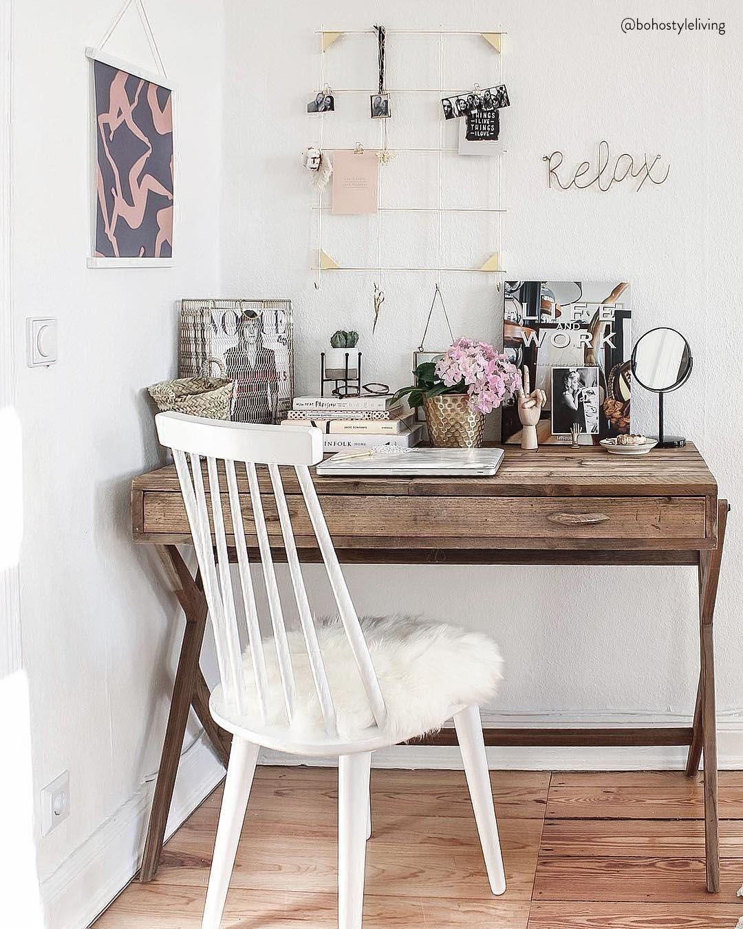 Image D Un Bureau De Travail on adore les bureaux de style boho ! espace de travail à la
