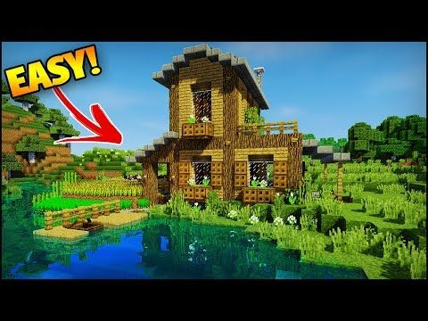 Minecraft: Amazing Starter/Survival House Tutorial - How to Build an