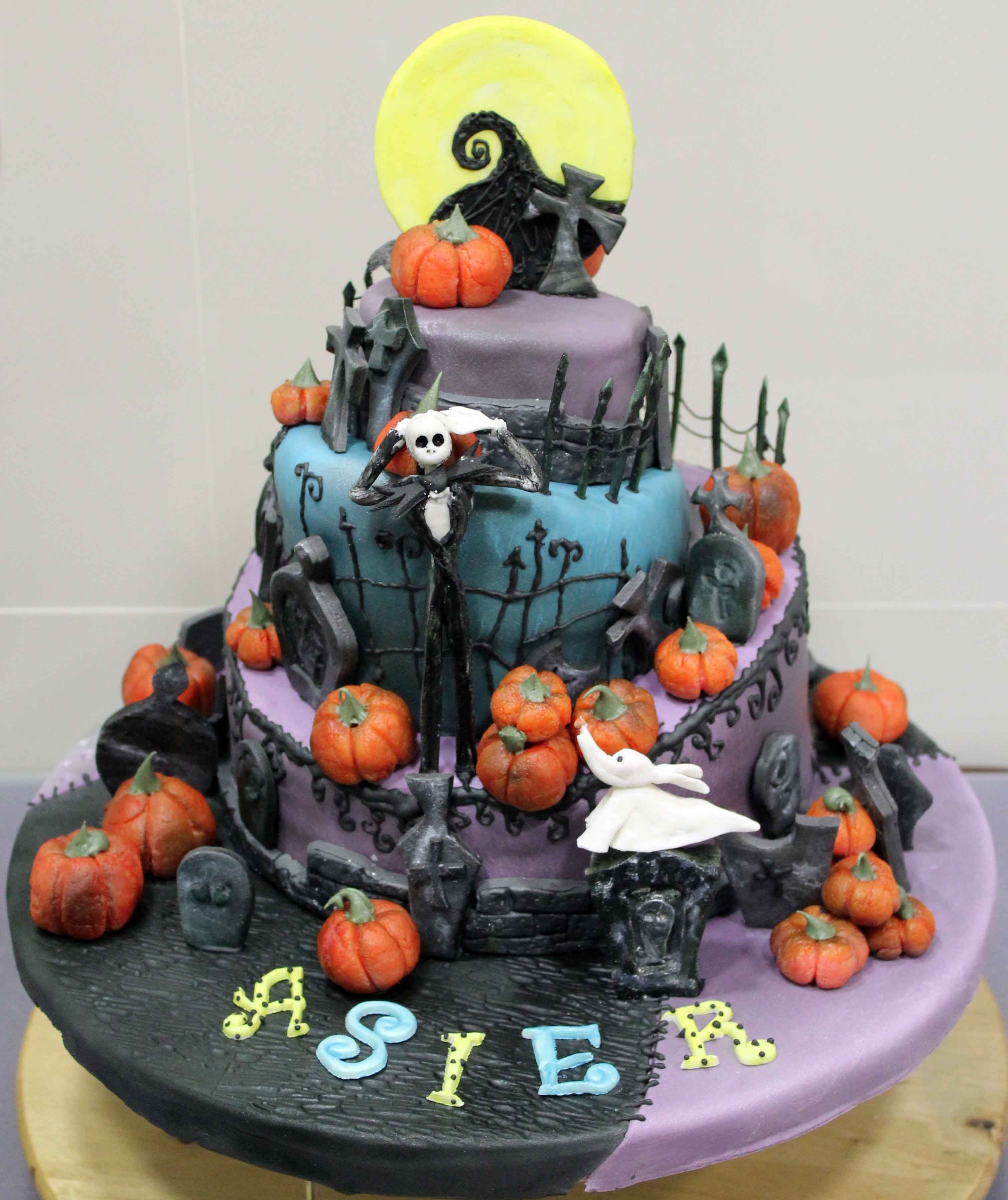Jack Nightmare Before Christmas Cake