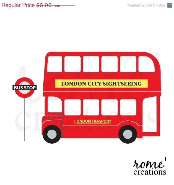 Digital Scrapbooking Designers At Easyberry Com Bus London Bus London Theme