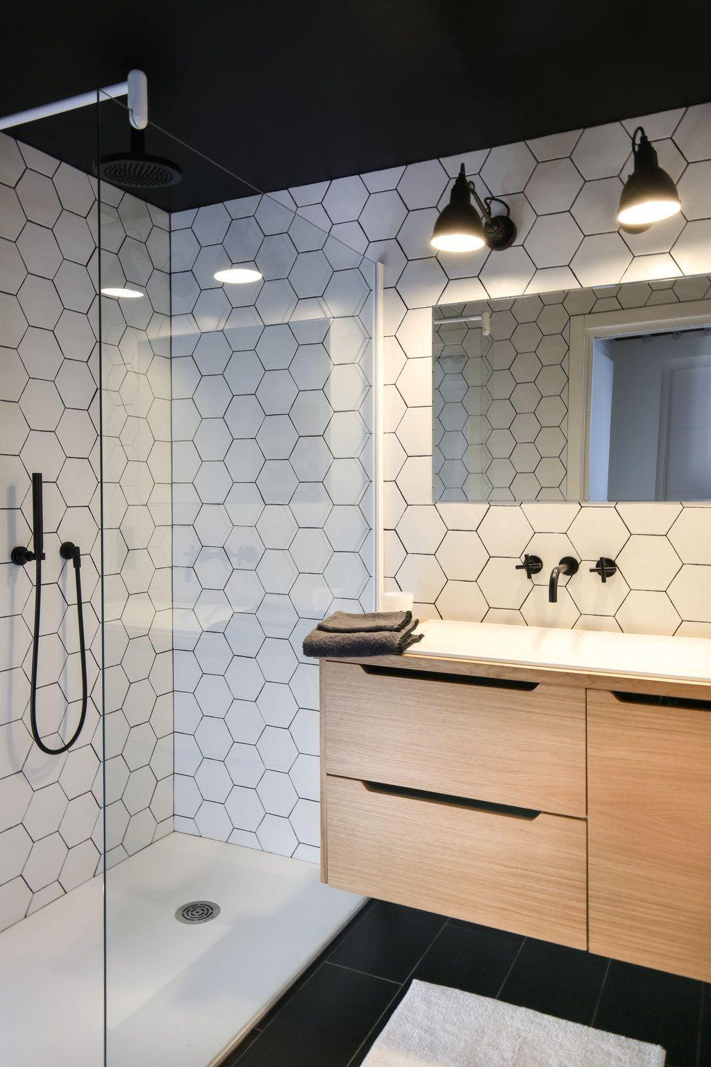 Salle De Bain Motif déco de salle de bains en noir et blanc | bai | băi mici