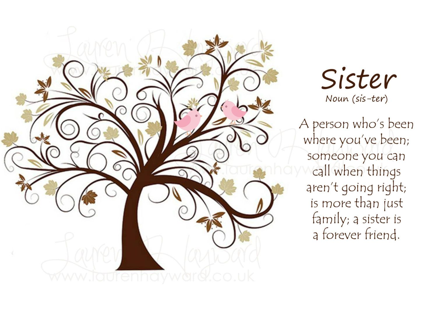 New to SerendipityCreate on Etsy: Sister Print available in various sizes. More than just family. Perfect gift for birthday or Christmas (1.00 GBP)
