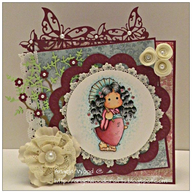 Card I made for the Magnolia-licious Challenge Blog. Stamp can be found at Magnolia-licious http://magnoliastamps.us/store2/