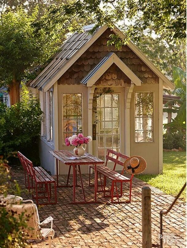 Backyard Shed With Porch