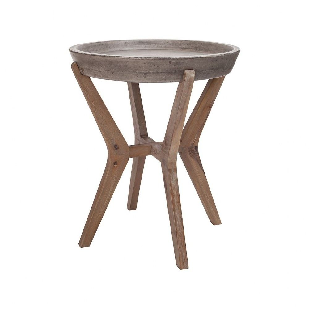 Tonga 21 7 Inch Side Table Silver Brushed Wood Tone Waxed Concrete Finish Silver Brushed Wood Tone Waxed Concrete Fini In 2021 Side Table Wood End Tables End Tables [ 1000 x 1000 Pixel ]