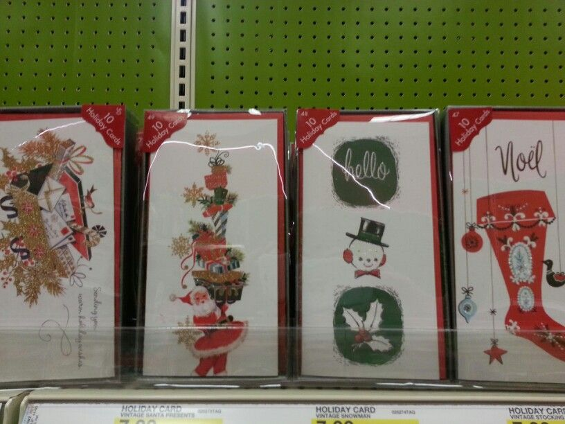 Vintage inspired Christmas cards at Target | Christmas | Pinterest