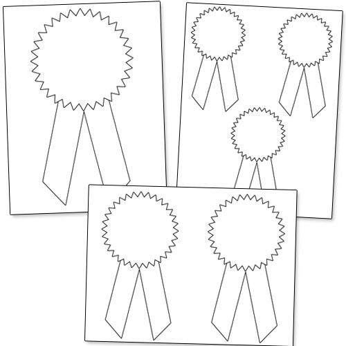 photograph about Printable Ribbon named Printable Award Ribbons Clroom Small children awards, Blue