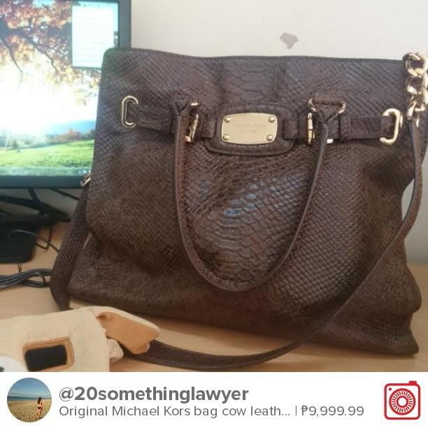 46c65ac4b38b Selling Original Michael Kors bag cow leather Hamilton for ₱9,999.99. Chat  with me on Carousell to get it! Download the free app now by tapping the  link on ...