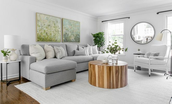 Simply White Living Room Ideas: Benjamin Moore Simply White Interior Paint Color Category