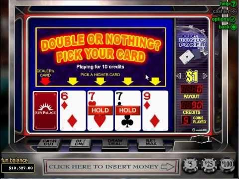 Double bonus video poker online casino casino games odds chart