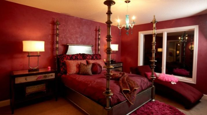 A red bedroom? Why not? Choose a pale or darker tone to reduce the