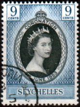 Seychelles Elizabeth II 1953 Coronation Fine Used SG 173 Scott 172 Other Seychelles Stamps HERE