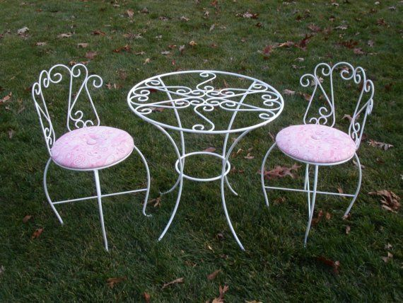 Childrenu0027s Tea Party Table And Chairs Set By CarrieMarieOriginals, $359.00