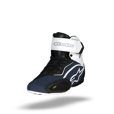 Alpinestars Faster 2 Vented Black Navy White Yellow Motorcycle Shoes New Ebay Motorcycle Shoes Black And Navy Navy And White