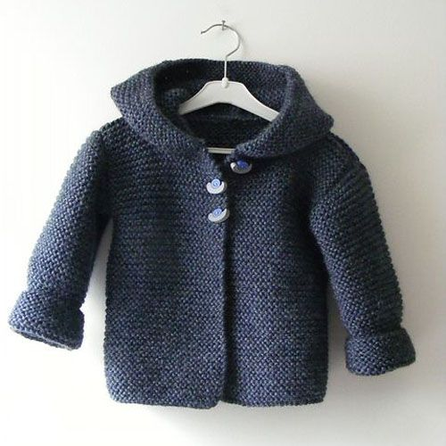 We Like Knitting: Hooded Baby Jacket