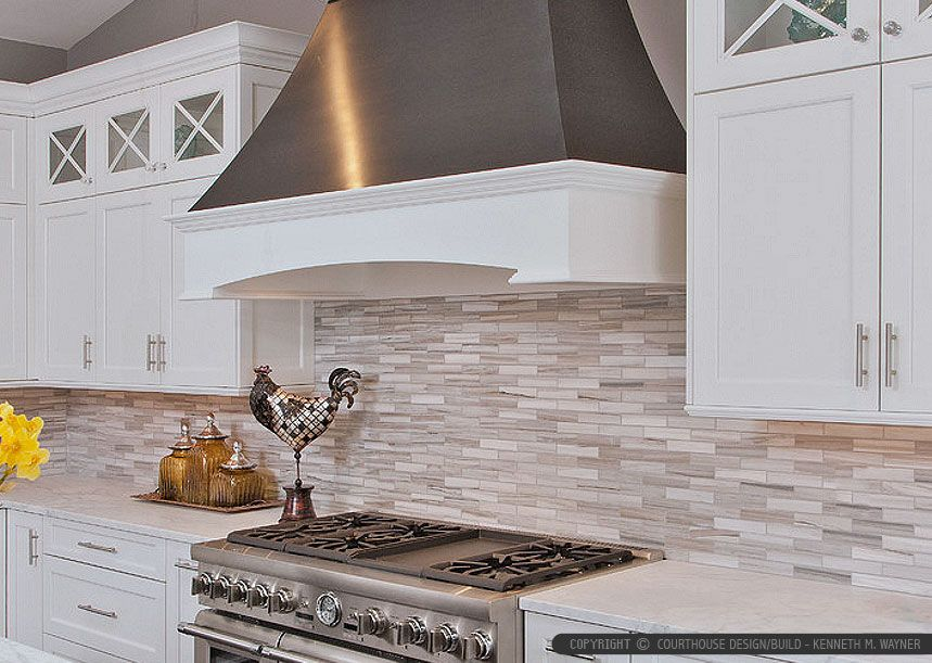 Charming White Cabinet Marble Countertop Modern Subway Kitchen Backsplash Tile From  Backsplash.com