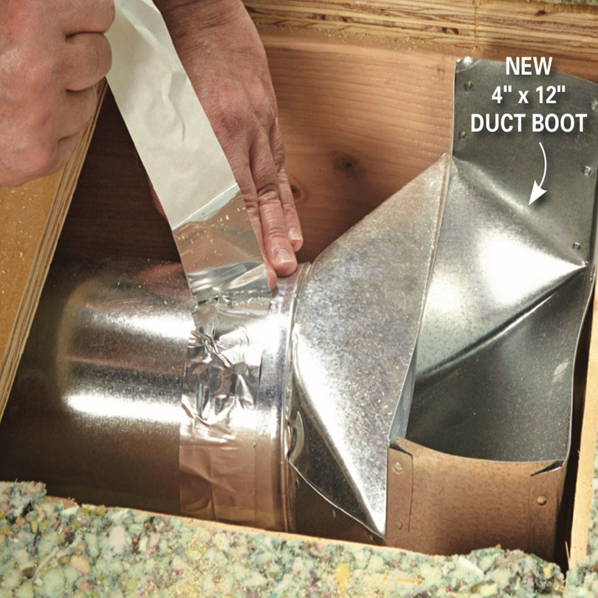 How To Install A Duct Booster Fan Duct Ducted Heating Air Conditioner Maintenance