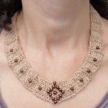Verona Beaded Necklace Knitted Jewelry Kit   Javori Designs