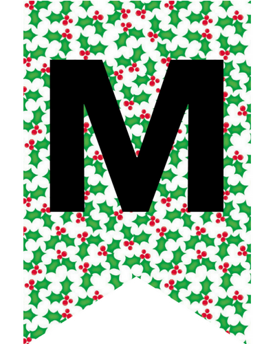 photograph regarding Printable Christmas Letters known as merry xmas letter banner printable - Sinma