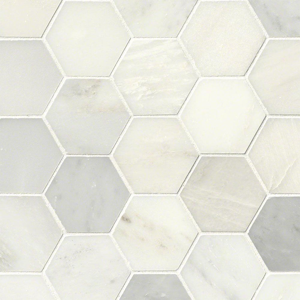Find superior quality ms international tile stone like marble mosaics other polished greecian white hexagon