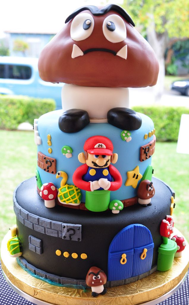 Super Mario Bros Cake Mario Bros Cake Mario Bros And Mario - Video game birthday cake