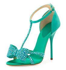 """Résultat de recherche d'images pour """"sandales talons turquoise"""""""