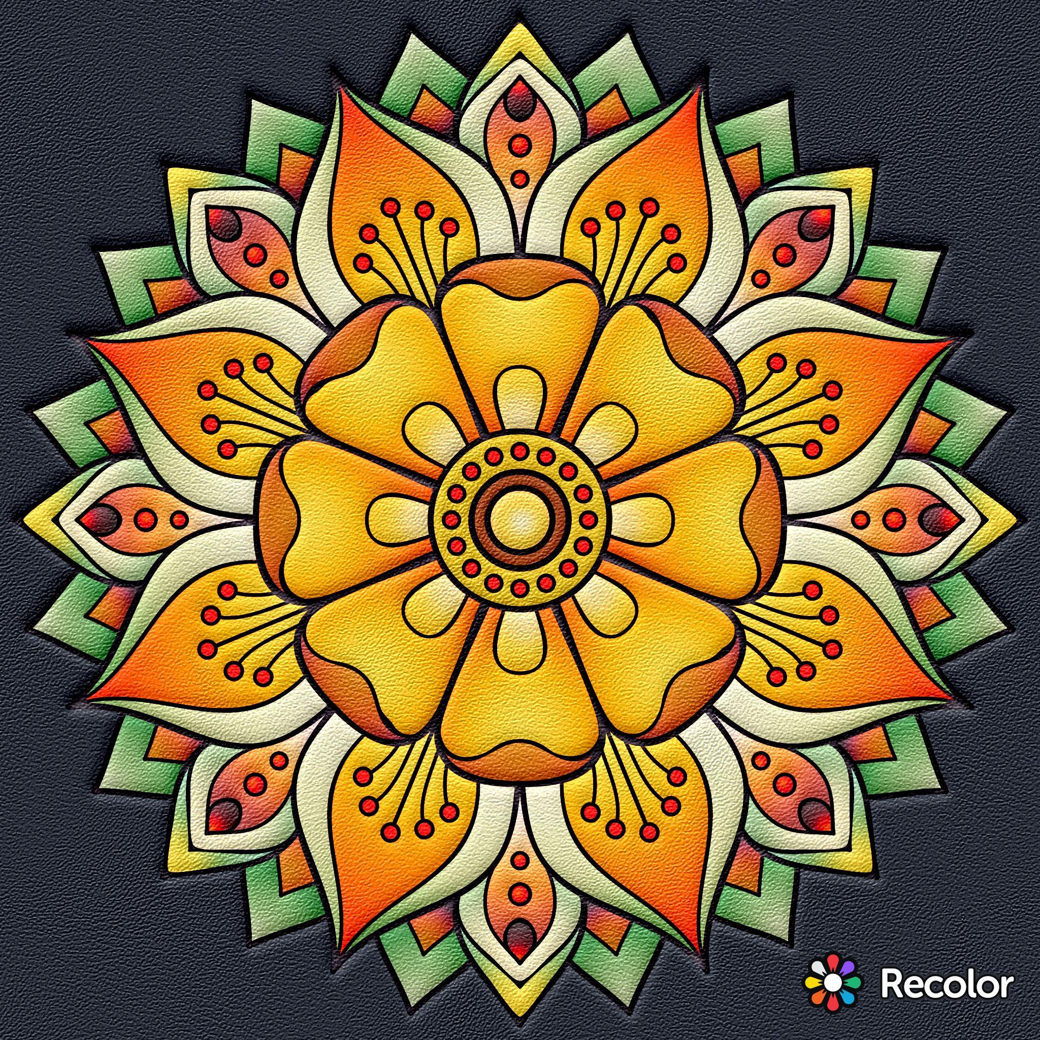 Pin De Ana Em Mandalas Arte Fractal Desenhos De Mandalas