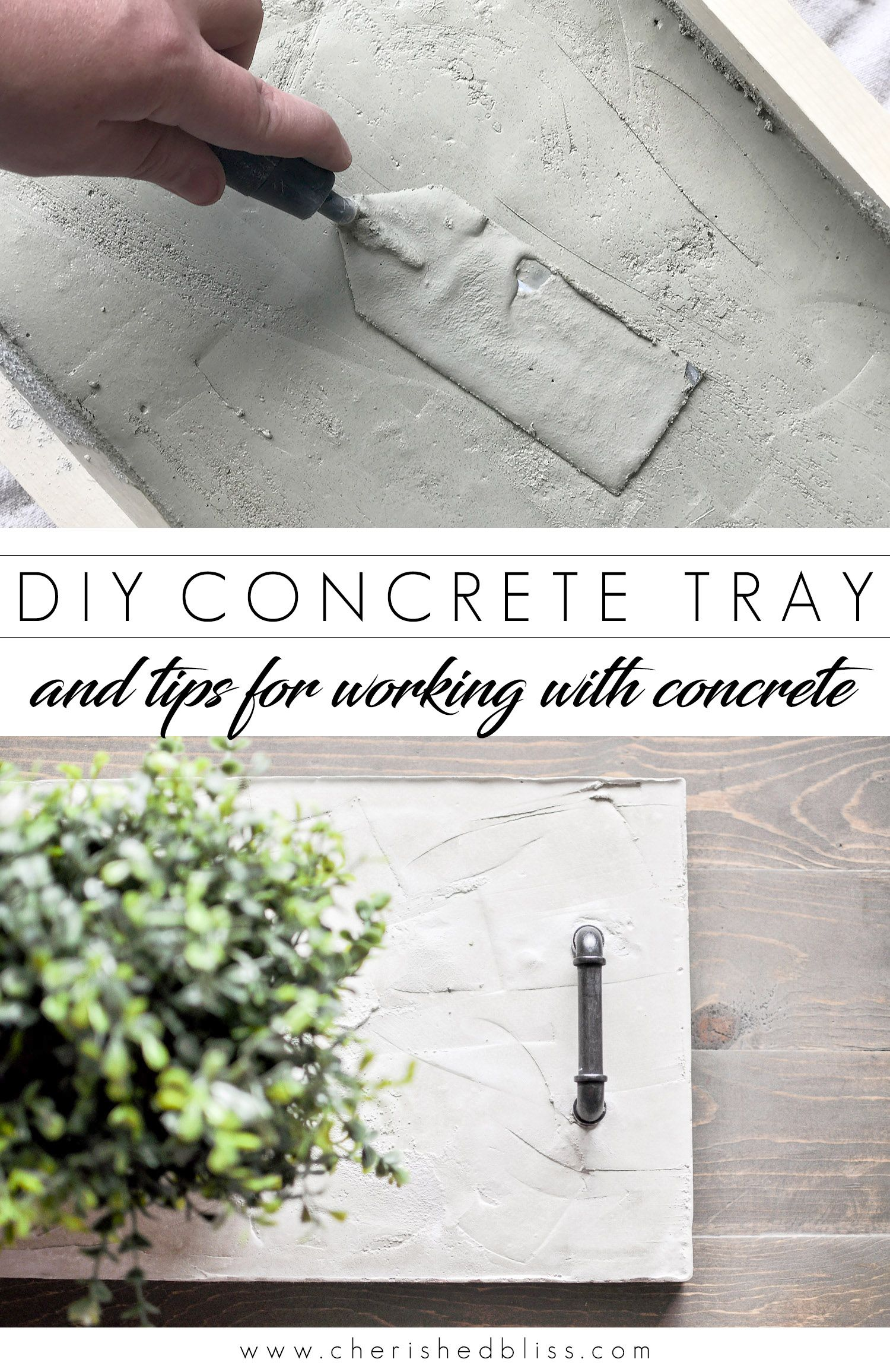 Diy Concrete Tray Centerpiece Tips For Using Concrete Cherished Bliss Concrete Diy Concrete Diy Projects Cement Diy