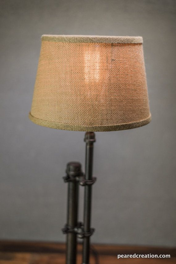 Burlap Shade Lamp Table Lamp Edison Table Lamp Etsy Industrial Table Lamp Edison Bulbs Industrial Table Lamp Table Lamp