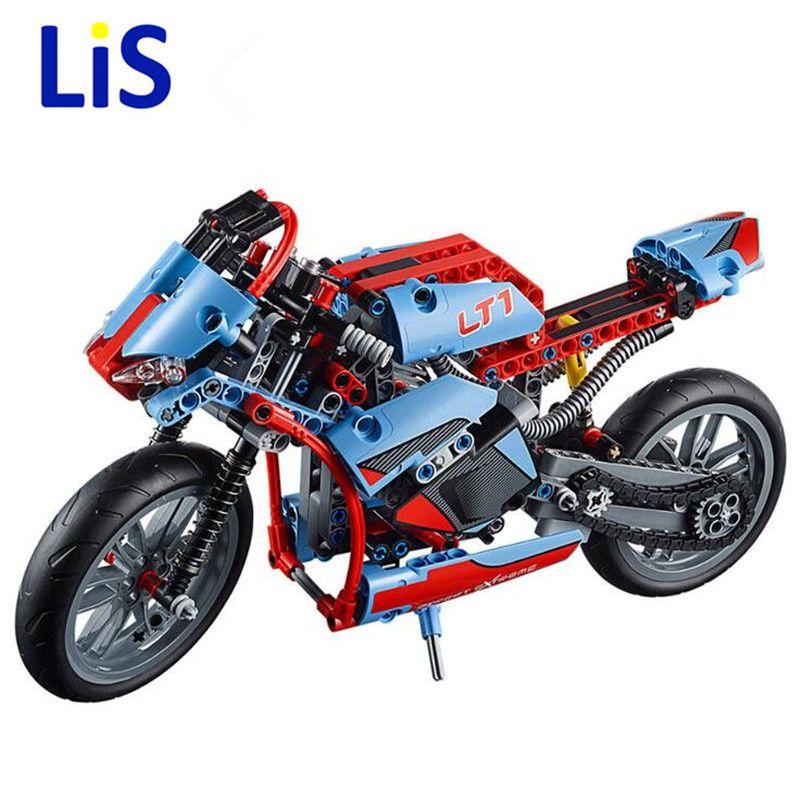 2 in 1 Technic Motorbike Motorcycle Car Building Blocks Bricks Toys For Kids NEW