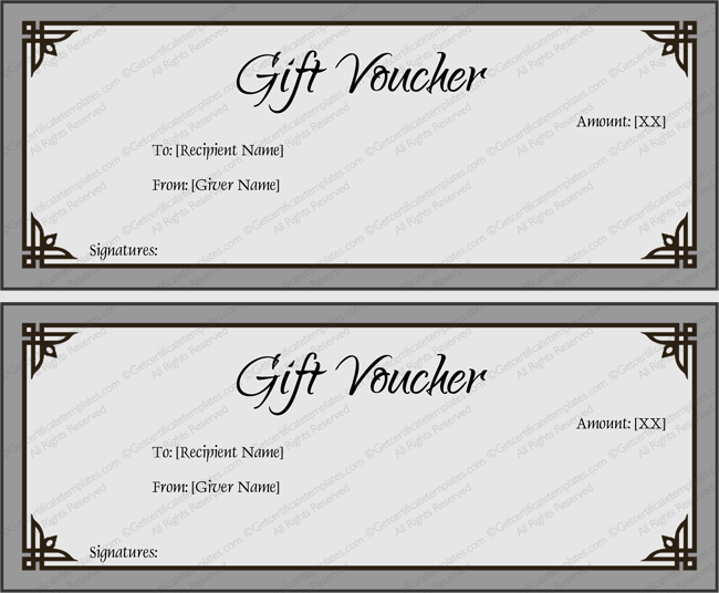 Simple Gray Gift Certificate Template Word  Diy