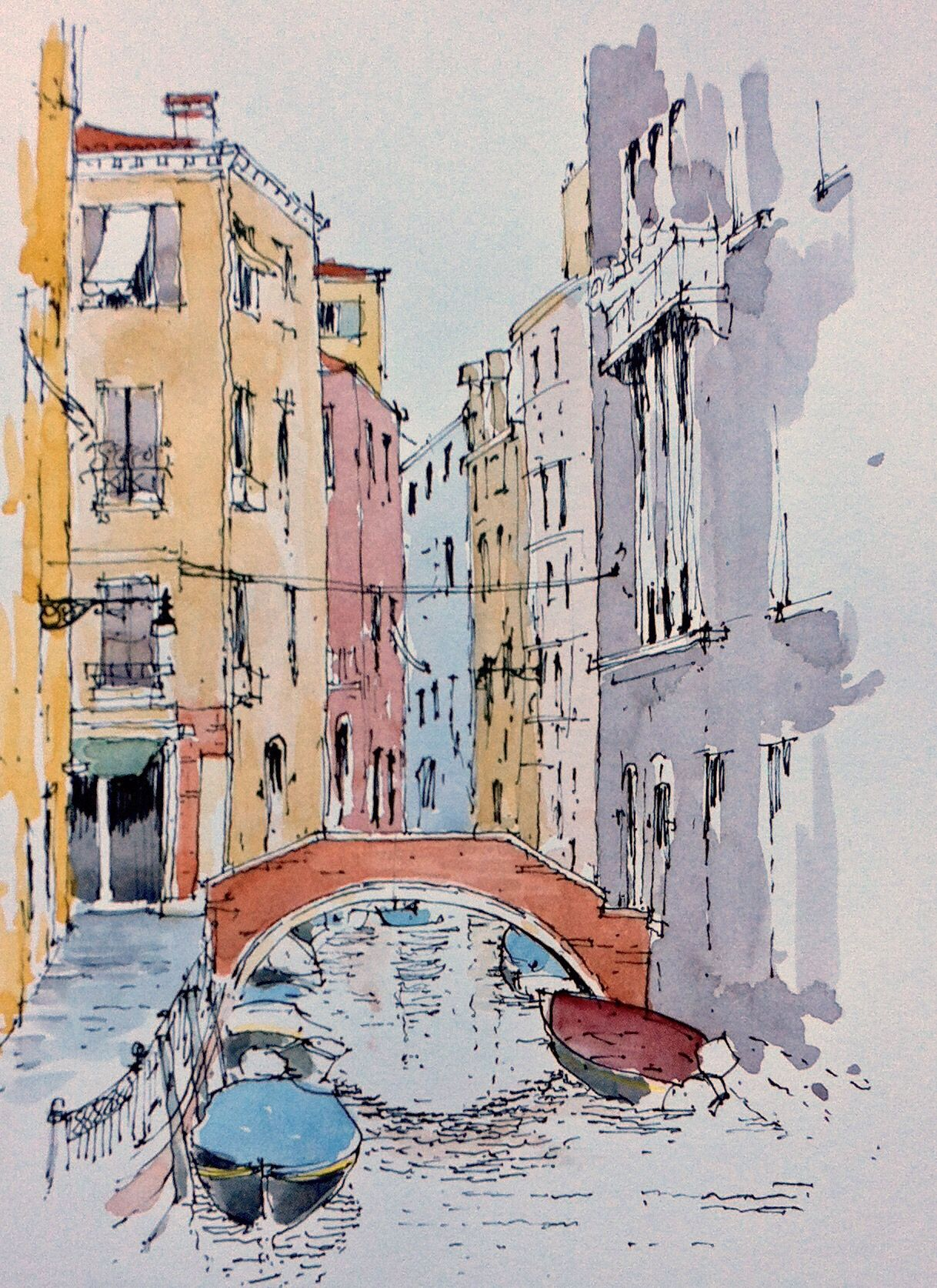 Line Drawing Venice : Venice sketch john edwards watercolor ramblings