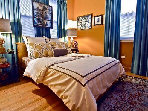 Orange And Blue Bedroom Home Decor Report Orange Bedroom Walls