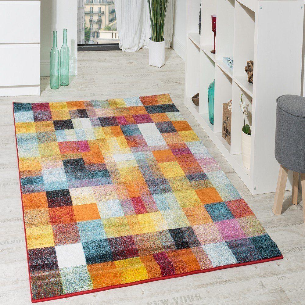 alfombra moderna colorida de cuadros multicolor liquidacin grssex cm amazones